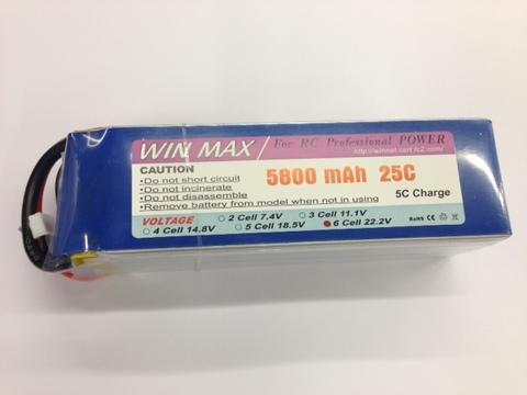 WIN MAX 6セル5800mA25Cリポ※30C