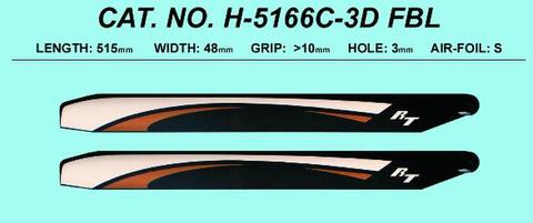 RotorTech 515 mm Flybarless Carbon Blades
