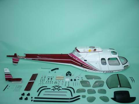 Fun-key AS350 Red & White  EP550-600(GP50)クラス用ボディ※予約受付