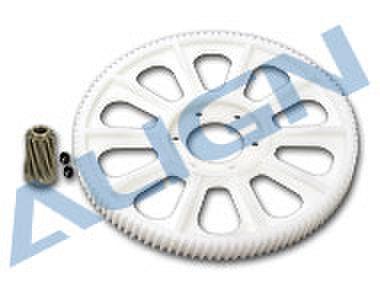 【H70021】メインギアセット ハス歯 CNC/112T M1【700E】