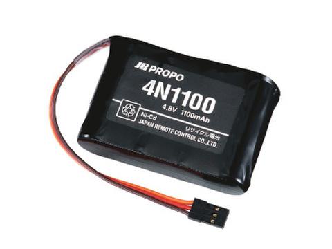 JR4.8V1100mA受信機用ニッカド4N1100