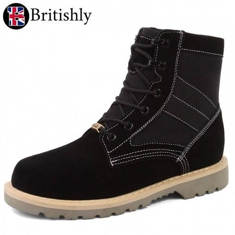 Cumberland Casual Boots Black 8cmアップ