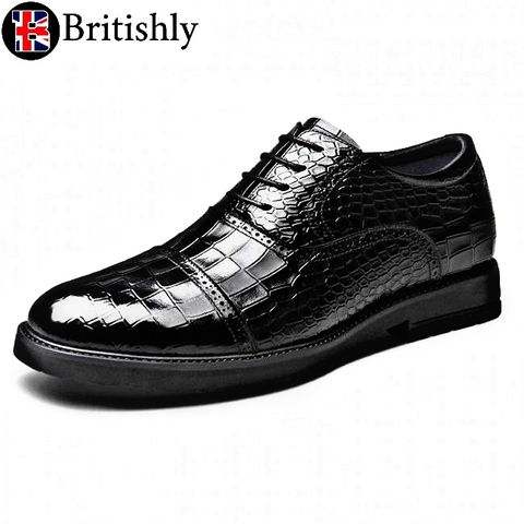 Derbyshire Black Croco 6.5cmアップ