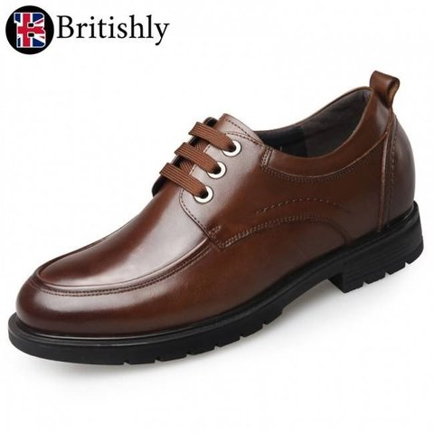 North Somerset Brown Casual Shoes 6.5cmアップ