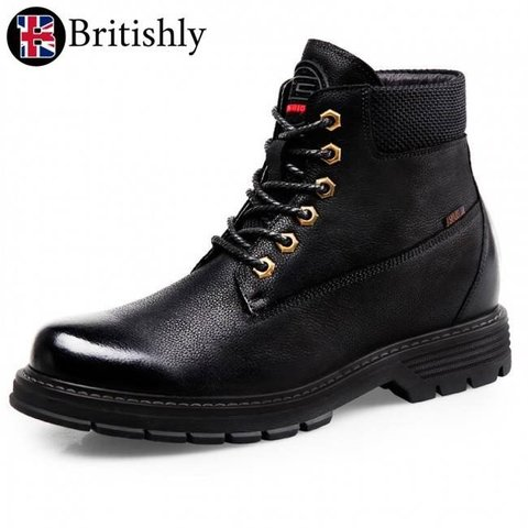 Medway Combat Tactical Boots Black 7cmアップ