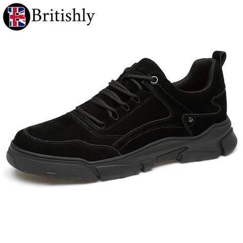 Porthcurno Black Suede Leather 6cmアップ