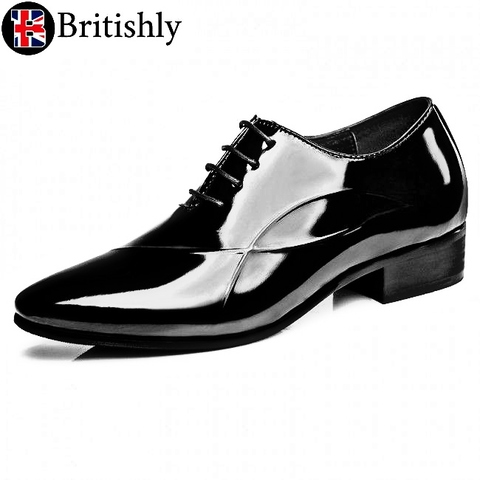 Liverpool mkⅣ (Oxfords Patent Leather Tuxedo) 8cmアップ