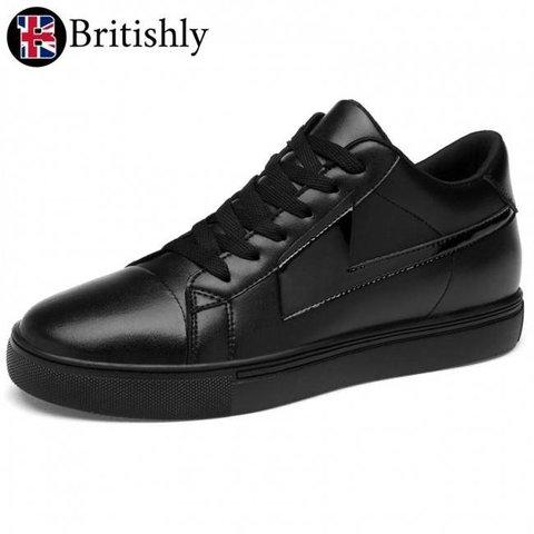 Newport Sneaker Black 8cmアップ