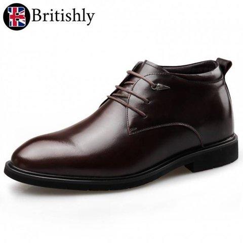 Carmarthenshire Tuxedo Shoes Brown 6.5cmアップ