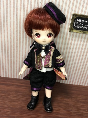 和柄軍服コートショートパンツセット(紫)