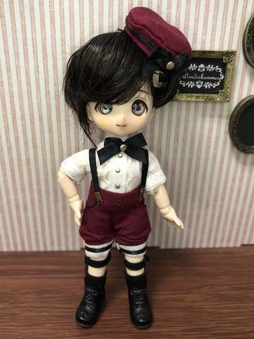 【初等部制服】クラシカルラインパンツセット(ワインレッド)