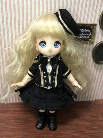 「半袖」軍服コートスカートセット(黒)