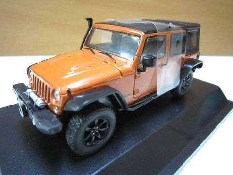 2013 Jeep Wrangler Unlimited 茶 幌 シュノーケル付き 1/43 新品 グリーンライト