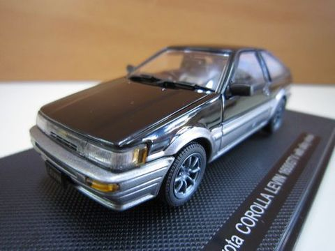 Toyota COROLLA LEVIN 1600GTV  黒/シルバー 1/43 新品