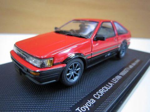 Toyota COROLLA LEVIN 1600GTV 赤/黒 1/43 新品