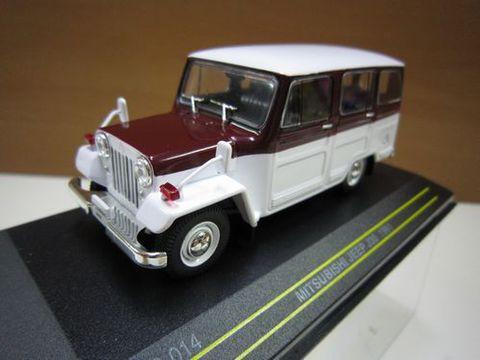 三菱ジープJ30 1961年 ホワイト/ワインレッド 1/43 新品