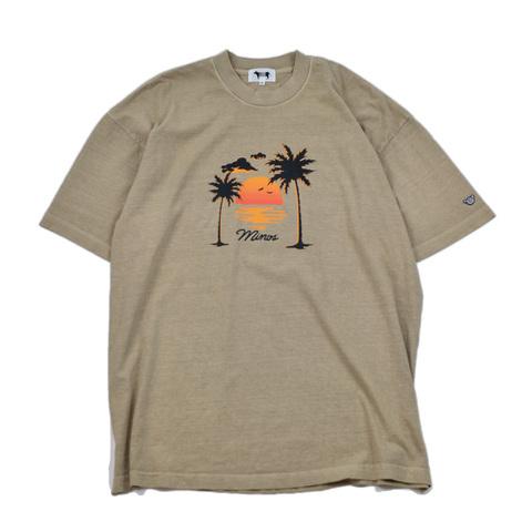 MINOS SS SUNSET PIGMENT DYED TEE ミノス Tシャツ