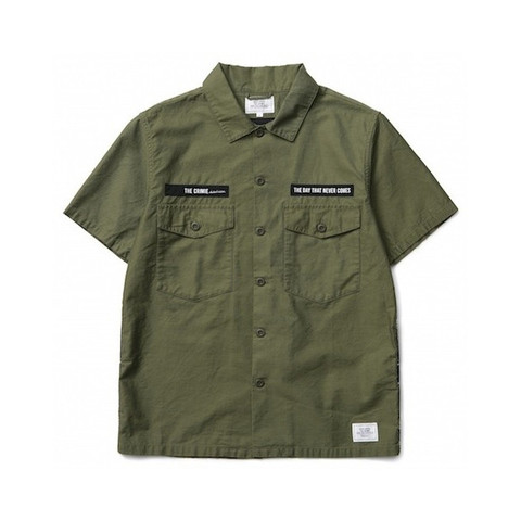 CRIMIE / JOE MILITARY ARMY SHIRT SHORT SLEEVE