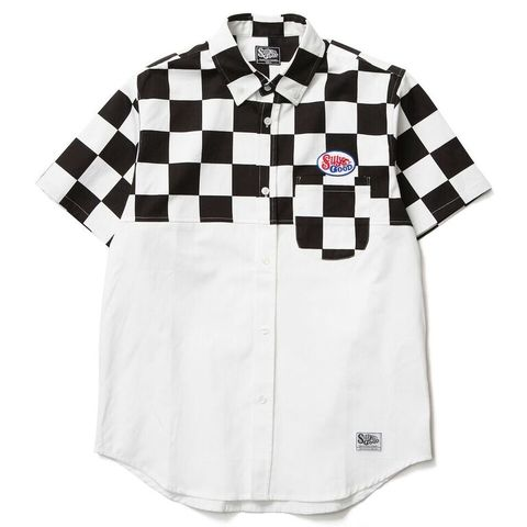 SILLY GOOD / CHECKER FLAG BI COLLOR BD SHIRTS