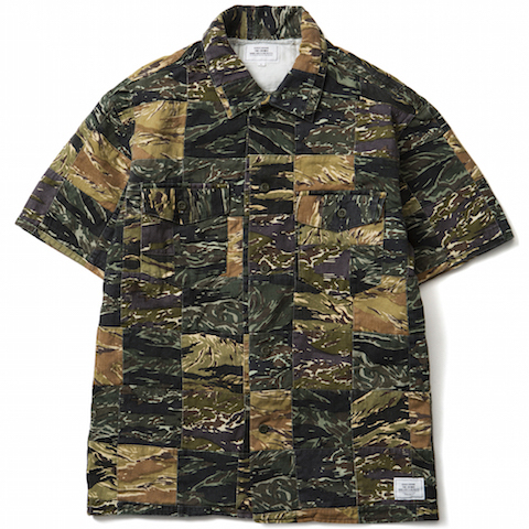 CRIMIE / RANDOM PATCH CAMO SHIRTS