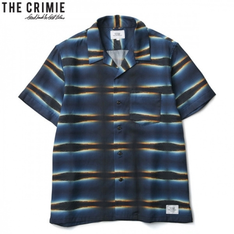 CRIMIE クライミー SUNSET PHOTO BORDER ALOHA SHORT SLEEVE SHIRT