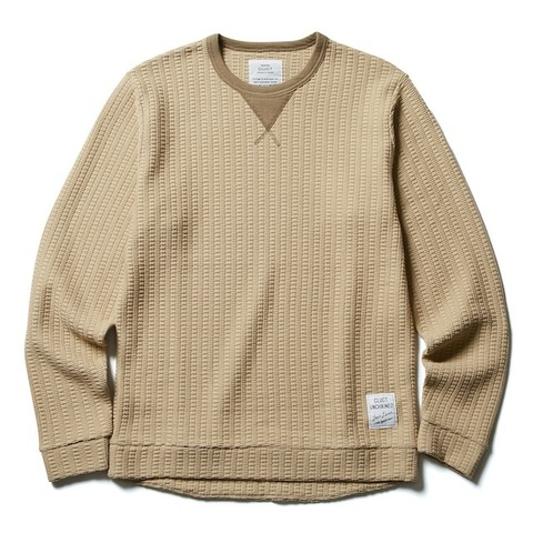 CLUCT HONEY COMB CAZETTE CREW KNIT SEW
