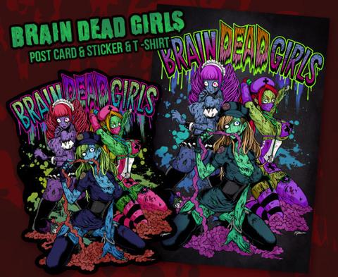 BRAIN DEAD GIRLS ポストカード&ステッカーセット