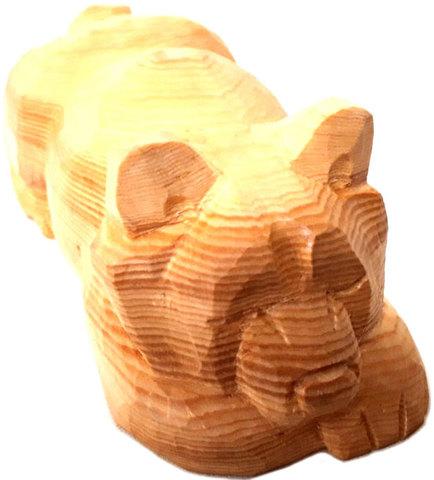 木彫り熊 木目 うどん