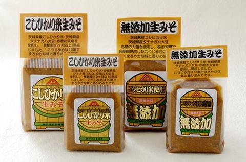 酒精無添加・コシヒカリ米生みそ【赤つぶ】500gガゼット袋