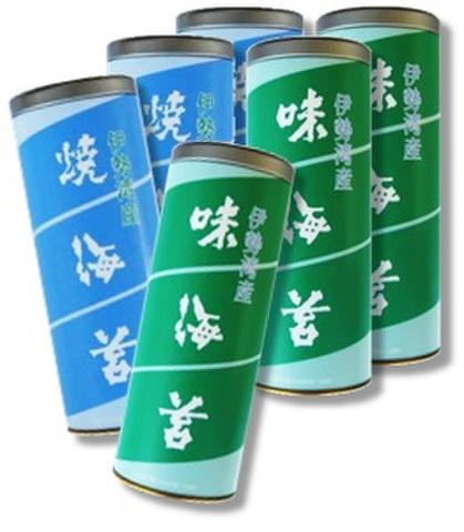 4/14~20 伊勢湾産 焼海苔 味海苔 徳用缶よりどり12缶