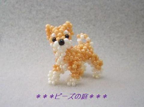 ビーズ・レシピ 柴犬(お散歩ポーズ・赤柴)