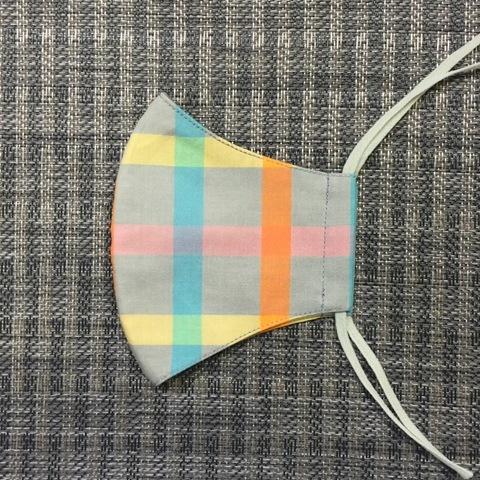 0024-M 女性サイズマスク マドラスチェック