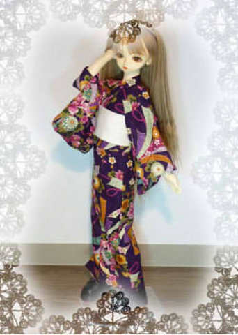 SD女の子用 単着物(ゆかた)の型紙