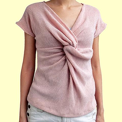 ツイストシャツの型紙婦人S~Mサイズ【委託商品】 ※ポイント利用不可