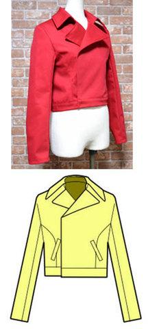 ショートジャケットの型紙 婦人Lサイズ
