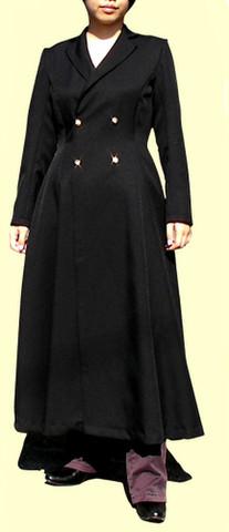 Wボタンのテーラードカラーコートの型紙 婦人Mサイズ