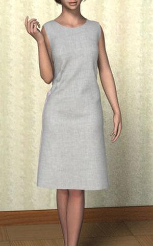 ノースリーブのワンピースの型紙 婦人M、Lサイズ