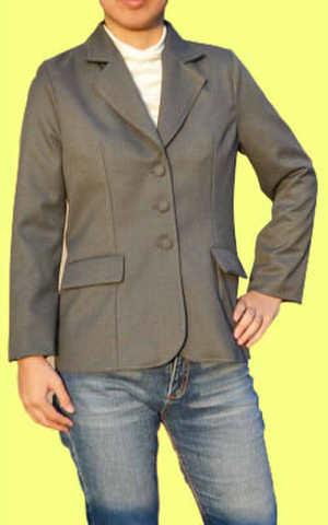 シングルテーラードジャケット フェミニンタイプの型紙 婦人Lサイズ