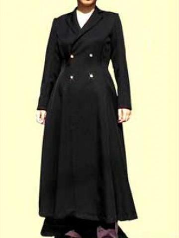 Wボタンのテーラードカラーコートの型紙 婦人Lサイズ