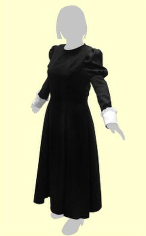 パネルラインのワンピースの型紙 婦人Sサイズ