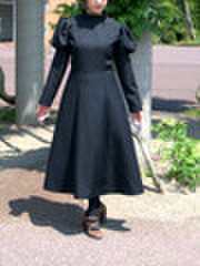 背中にファスナーのあるプリンセスラインのワンピースの型紙 婦人2Lサイズ
