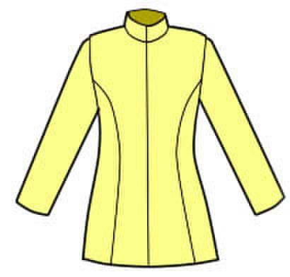 細身のハイネックジャケットの型紙 (婦人L)