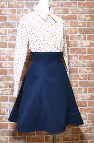 ハイウエストのスカートの型紙