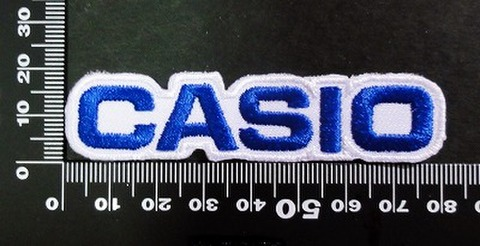 CASIO カシオ ワッペン (青)