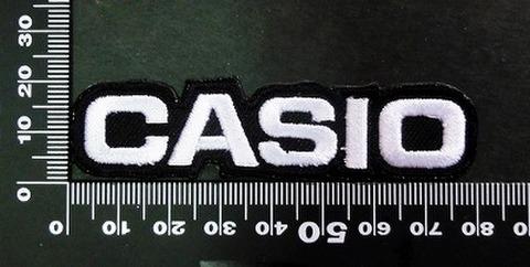 CASIO カシオ ワッペン (白)