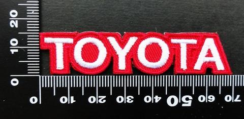 トヨタ TOYOTA ワッペン (赤1)