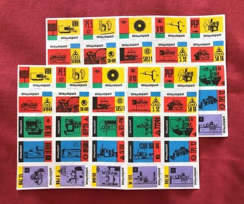 ヴィンテージマッチラベル「工業機械輸入会社の広告」 25枚1シート
