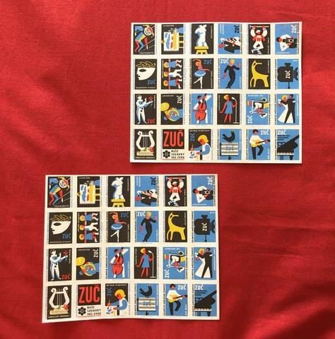 ヴィンテージマッチラベル 「趣味的な芸術活動」24枚1シート