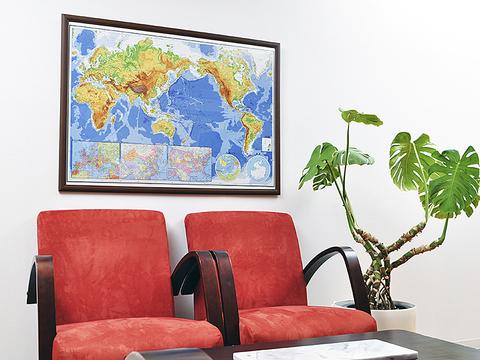 最新世界詳密大地図 木製パネル版