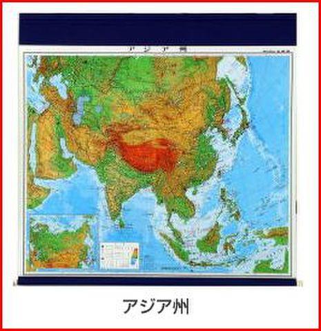 マジック式世界州別地図 アジア